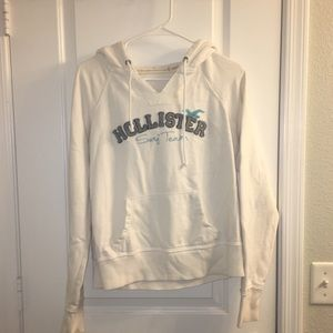 XL Hollister white hoodie